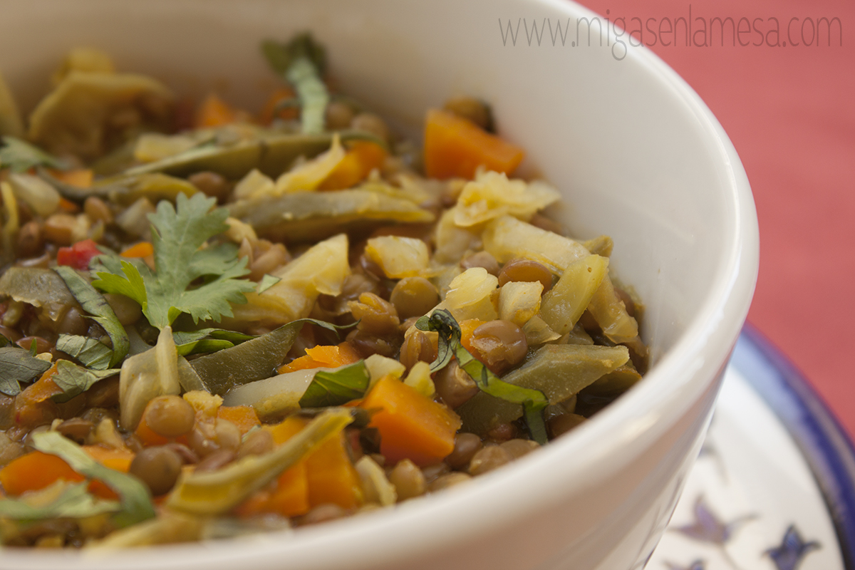 Lentejas curry 5