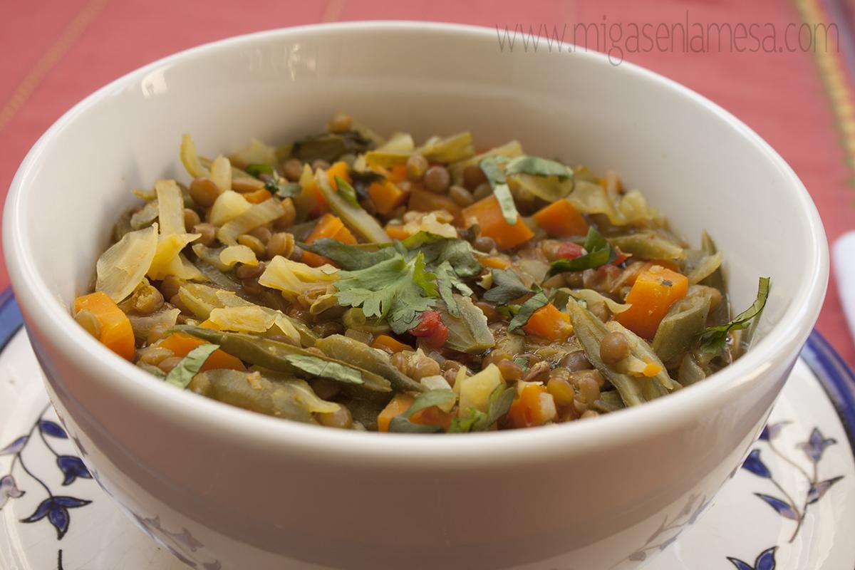 Lentejas curry 6