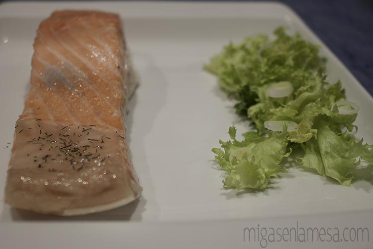 Salmon te verde 1