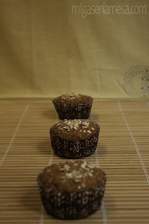 Muffins integrales avena 2