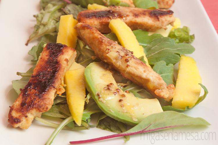 Ensalada citrica pollo 2