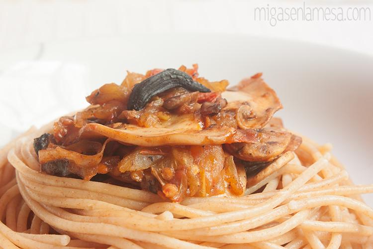 Spaghetti tomates asados 3