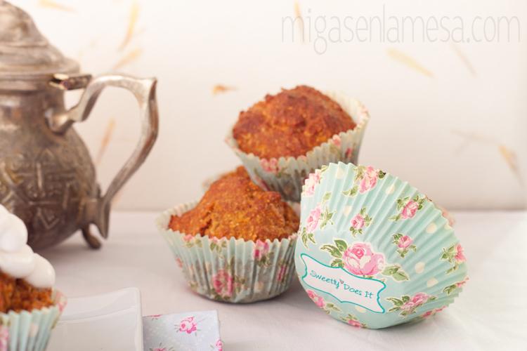 Cupcakes de zanahoria y coco, sin lácteos