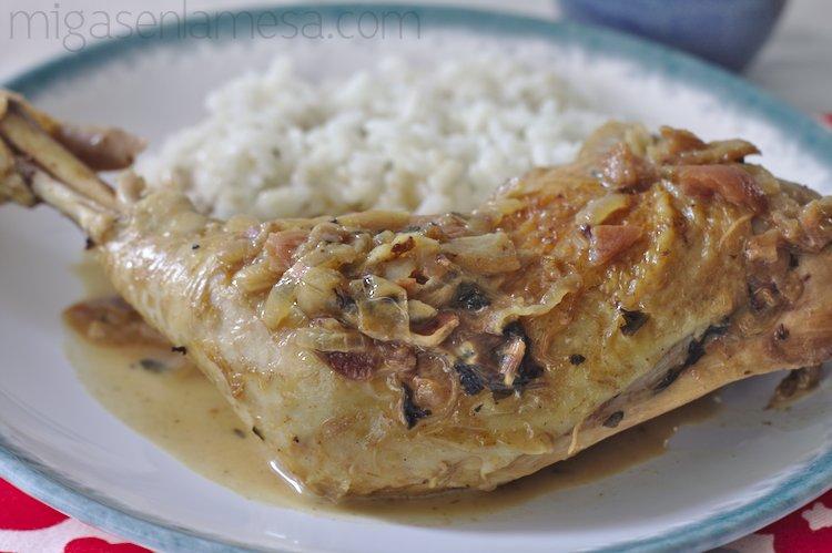 Pollo con umeboshi