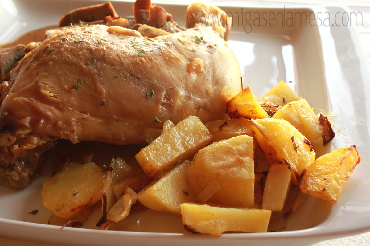 Pollo setas castañas 5