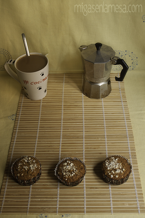 Muffins integrales avena 1