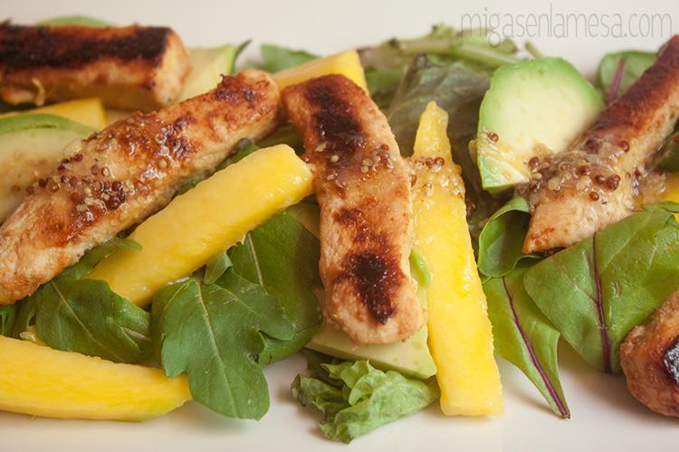 Ensalada citrica pollo 1