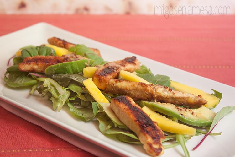 Ensalada citrica pollo 5
