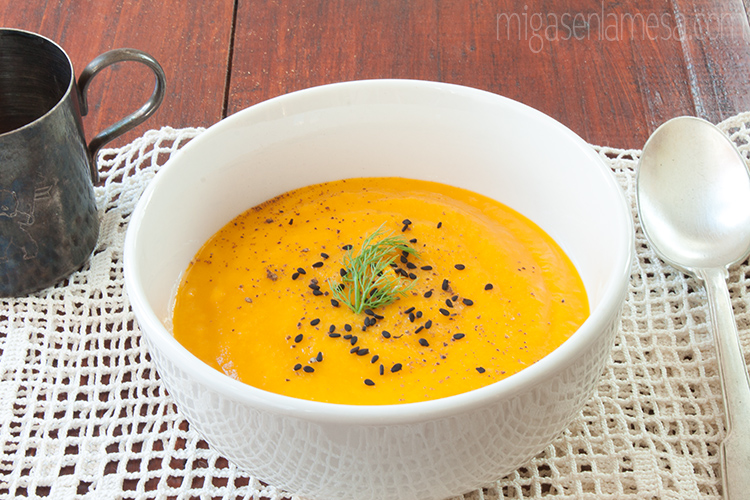 Crema hinojo zanahoria 3