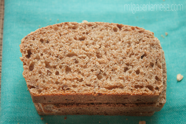 Pan integral de salvado de avena y lino [Oat broom bread de Peter Reinhart]
