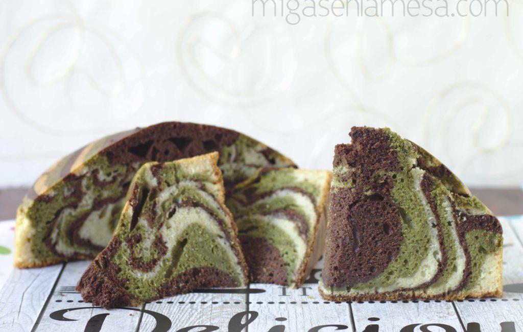 ZEBRA CAKE DE CHOCOLATE Y MATCHA [¿Para halloween?]